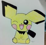 Pichu Colored by Shylyn-Drawing-Queen