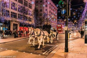 Christmas horse cart 121487 by meriwani