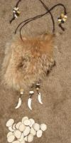 Wolf fur pouch + rune set 1 by lupagreenwolf