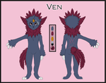 Commission - Ven Reference Sheet by MiaMaha