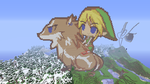 Link and WolfLink ~ Minecraft by 20PercentCoolerBrony
