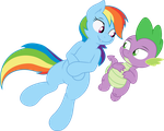 RD and Spike - Eternal Sunshine and Rainbows by AB-Anarchy