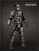 Steampunk Iron Man by Jack-Burton25