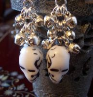 SKULLS and BELLS earrings by MsJody