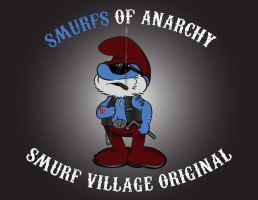Clay Smurf - Smurfs of Anarchy by zstroeher