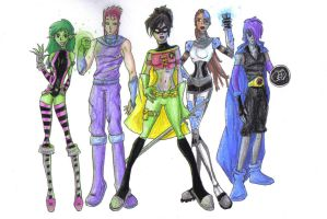 Teen titans, in a way... by Piewoman