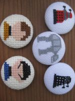 Assorted buttons by princessmoodypants