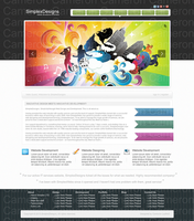 web 2.0 design agency layout by CameronLayfield