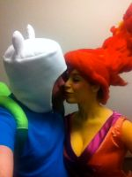 Flame Princess and Finn the Human in Love (!) by conduitgirl