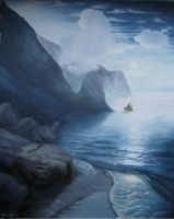 Blue cliffs by Halwen
