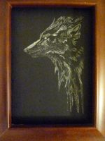 Wolf Scratch board 2 by WolfDreams