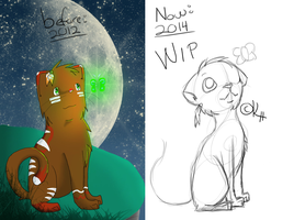 WIP Riju - Before/now by IronMeow