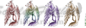 .Premade. Winged Wolf by ScarlettFeather