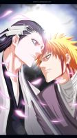 itchigo vs byakuya by sAmA15