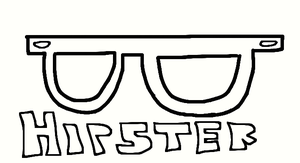 hipster glasses by pinkamena1999