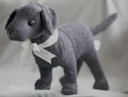 Curly Coat Retriever Plush Toy by MyBeautifulMonsters