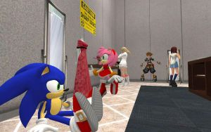 Sonic Shopping bore. by shadow759