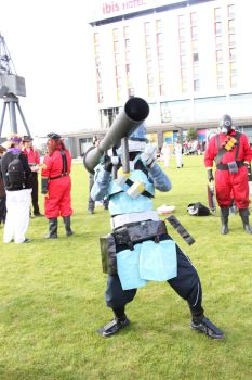 Robot Soldier Cosplay by brickyphone