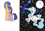.: FlashXPrincess Twlight and Sister vs Sister:. by 303darkshadows