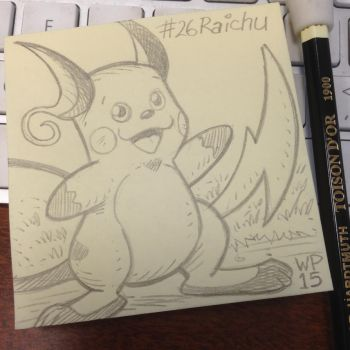 Post-It Note Pokemon #026 Raichu by WillPetrey