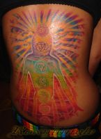 Humanlights tattoo,chakras by karolyi
