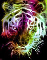 Fractal Tiger - Eyes by minimoo64