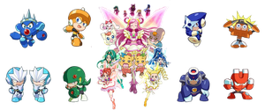 Yes! Precure 5- Megaman 3 by isaacyeap