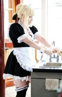Saber Maid IV by EnchantedCupcake