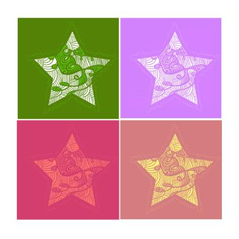 Star design - color variations by SuzyQ2pie