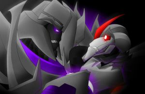 Megatron and Starscream by FyriKnight