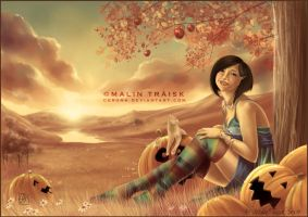 In the Pumpkin Patch by cerona