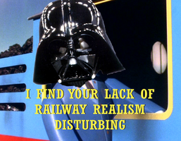 Darth Vader/Thomas the Tank Engine Meme by FantasticMrS