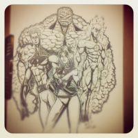 11 x 17 Fantastic Four Cool Pencils by IanDWalker