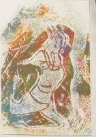 Lino and mono print variation 6 by aingeal-uisge