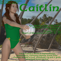 Caitlin beach volleyball profile by ChrisFClarke