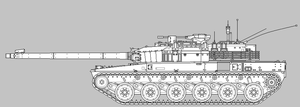 HT9/E Export Main Battle Tank Concept [Uncoloured] by SixthCircle