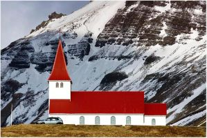 Church at Vik by Delacorr
