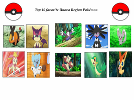 my top 10 favorite unova pokemon by cartoonstar92