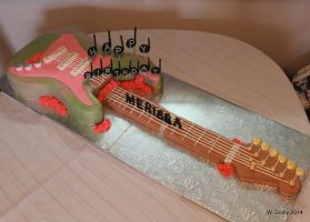 Rock'n Roll Guitar Cake by lenslady