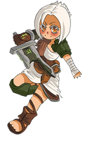 LoL - Little Riven by fivetinsoldiers