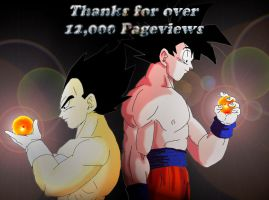 Thanks For 12000 Pageviews by DarkAngelxVegeta