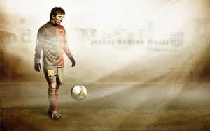 Messi with text by RossoneroDevil