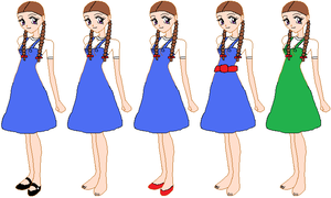 Dorothy Gale's wardrobe in my stories by ChipmunkRaccoon2