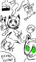 Pikachu sketches by El3ctro-Mess