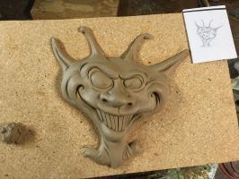 Psycho Alien wall relief by RandyHand