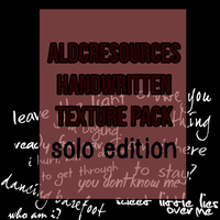 aldcresources handwritten textures pack by chloelukasiak