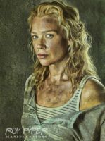 The Walking Dead: Andrea: Oil Paint Re-Edit by nerdboy69