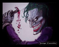 The Joker painting by IronMaiden720