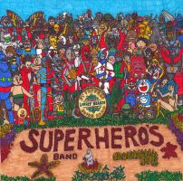 SGT. PEPPER'S LONELY HEARTS SUPERHERO'S BAND by OKAINAIMAGE