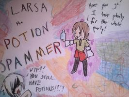 LARSA THE POTION SPAMMER by LightShappy